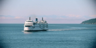 Ferry on the water