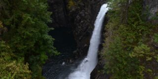 A picture of Elk Falls (waterfall).