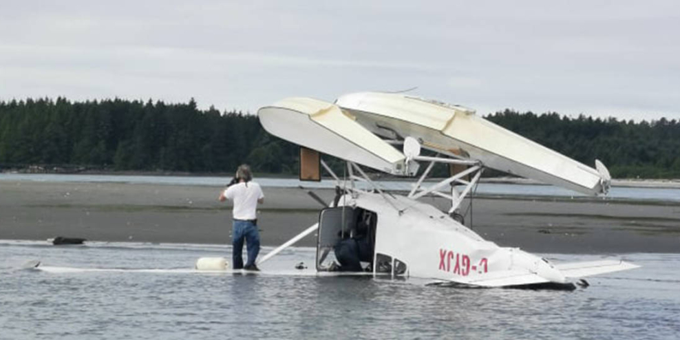 Floatplane flips in Tofino crash