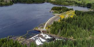 An aerial photo of Elsie Dam.