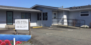A picture of the Port McNeill Medical Clinic on a sunny day.